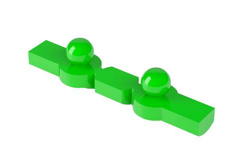 OT CAP Barra Calcinabile dritta Normo verde